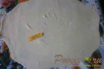 Узбекские слоистые лепёшки с луком Шаг 8 (картинка)