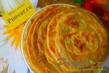 Узбекские слоистые лепёшки с луком Шаг 17 (картинка)