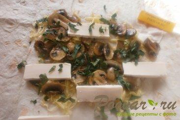 Рулеты с грибами из лаваша Шаг 10 (картинка)