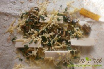 Рулеты с грибами из лаваша Шаг 11 (картинка)