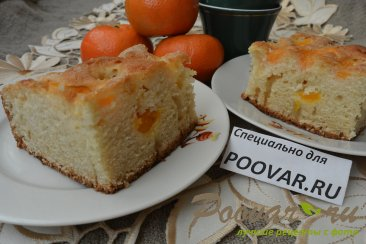 Быстрый пирог к чаю с мандаринами Шаг 15 (картинка)