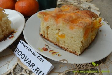 Быстрый пирог к чаю с мандаринами Изображение