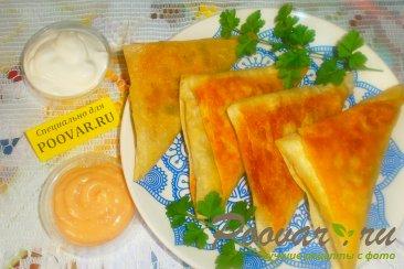 Пирожки из лаваша с курицей и горохом Изображение