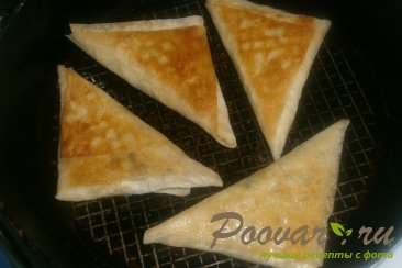 Пирожки из лаваша с курицей и горохом Шаг 18 (картинка)