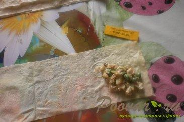 Пирожки из лаваша с курицей и горохом Шаг 12 (картинка)