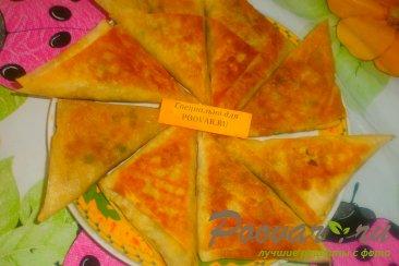 Пирожки из лаваша с курицей и горохом Шаг 19 (картинка)