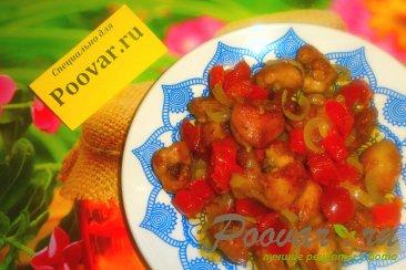 Куриные хвостики (гузки) с помидорами Изображение