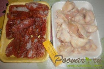 Куриные хвостики (гузки) с помидорами Шаг 1 (картинка)
