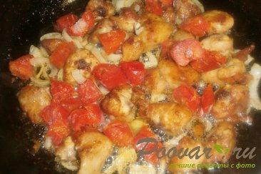 Куриные хвостики (гузки) с помидорами Шаг 12 (картинка)