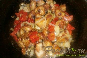 Куриные хвостики (гузки) с помидорами Шаг 13 (картинка)