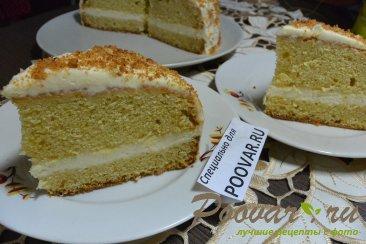Бисквитный торт с кремом из сгущенки и сливочного сыра Изображение