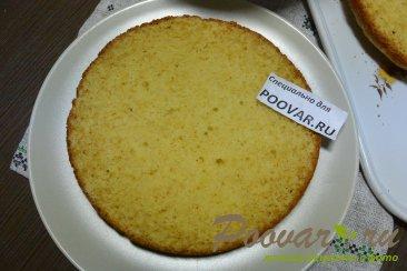 Бисквитный торт с кремом из сгущенки и сливочного сыра Шаг 16 (картинка)