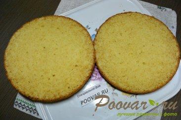 Бисквитный торт с кремом из сгущенки и сливочного сыра Шаг 15 (картинка)
