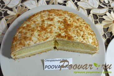 Бисквитный торт с кремом из сгущенки и сливочного сыра Шаг 19 (картинка)