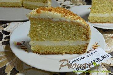 Бисквитный торт с кремом из сгущенки и сливочного сыра Шаг 20 (картинка)