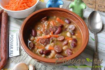 Фасоль с колбасками в мультиварке Изображение