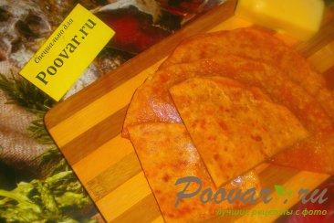 Томатные лепёшки с сыром на сковороде Изображение