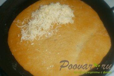 Томатные лепёшки с сыром на сковороде Шаг 14 (картинка)