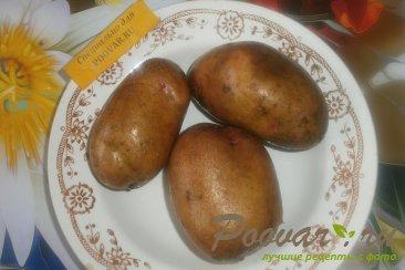 Картофельный салат с квашеной капустой с хреном Шаг 1 (картинка)
