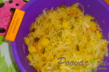 Картофельный салат с квашеной капустой с хреном Шаг 14 (картинка)