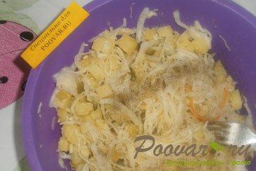 Картофельный салат с квашеной капустой с хреном Шаг 13 (картинка)
