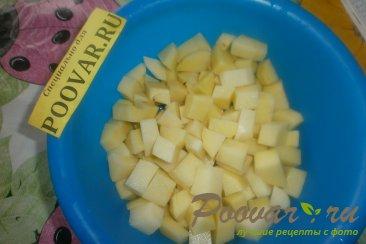 Тушёный картофель с солёными огурцами Шаг 2 (картинка)