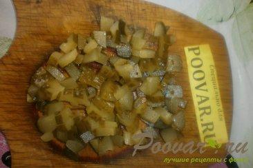 Тушёный картофель с солёными огурцами Шаг 10 (картинка)