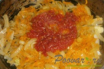Тушёный картофель с солёными огурцами Шаг 8 (картинка)