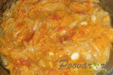 Тушёный картофель с солёными огурцами Шаг 9 (картинка)
