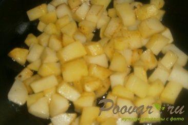 Тушёный картофель с солёными огурцами Шаг 12 (картинка)