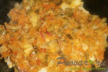 Тушёный картофель с солёными огурцами Шаг 13 (картинка)