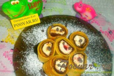 Роллы из блинчиков со сладкой начинкой Изображение