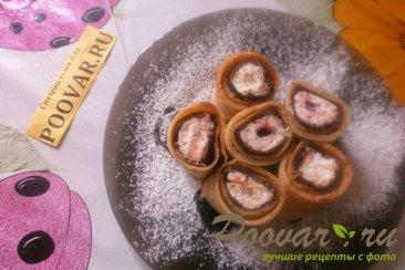Роллы из блинчиков со сладкой начинкой Шаг 14 (картинка)
