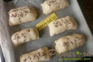 Слойки с сыром и крабовыми палочками из дрожжевого теста Шаг 13 (картинка)