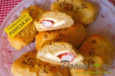 Слойки с сыром и крабовыми палочками из дрожжевого теста Шаг 15 (картинка)