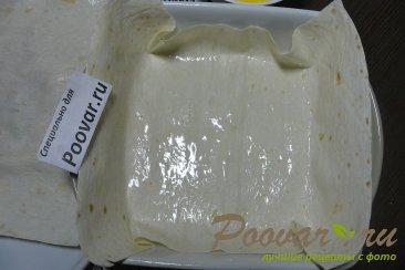 Заливной пирог из лаваша с творогом Шаг 7 (картинка)