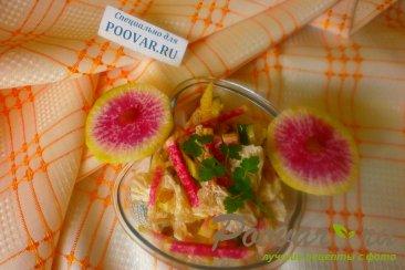 Салат из редиса с капустой и огурцом Шаг 12 (картинка)