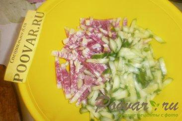 Салат из редиса с капустой и огурцом Шаг 5 (картинка)