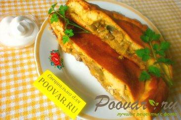 Пирог с капустой, грибами и рыбой Шаг 20 (картинка)