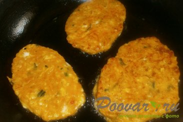 Оладьи из тыквы с сыром Шаг 10 (картинка)