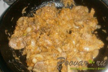 Куриная печень с яблоками Шаг 11 (картинка)