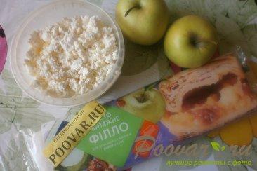 Роллини с творогом и яблоками Шаг 1 (картинка)