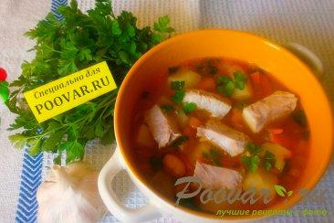 Суп из свиной грудинки с фасолью Изображение