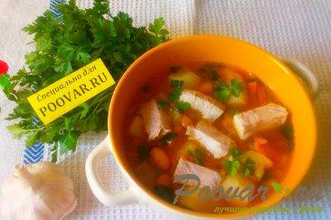 Суп из свиной грудинки с фасолью Шаг 15 (картинка)