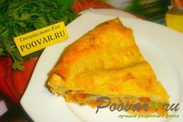 Пирог с луком и сыром из лаваша Изображение