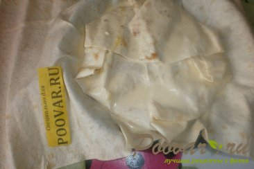 Пирог с луком и сыром из лаваша Шаг 17 (картинка)