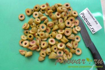 Хлеб без замеса с оливками и сыром Шаг 2 (картинка)