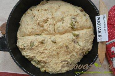 Хлеб без замеса с оливками и сыром Шаг 15 (картинка)