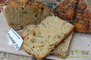 Хлеб без замеса с оливками и сыром Шаг 19 (картинка)