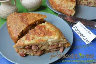 Пирог из лаваша с колбасой в мультиварке-скороварке Шаг 20 (картинка)